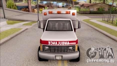 Amblulance From GTA 3 для GTA San Andreas вид изнутри