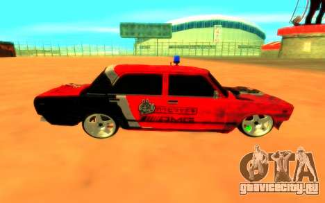 ВАЗ 2105 Боевая Классика для GTA San Andreas вид сзади слева
