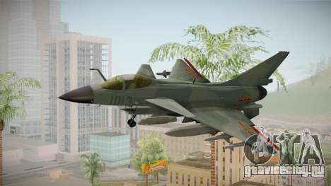 Chengdu J-10 Vigorous Dragon для GTA San Andreas вид сзади слева