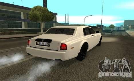 Rolls-Royce Phantom Armenian для GTA San Andreas вид слева