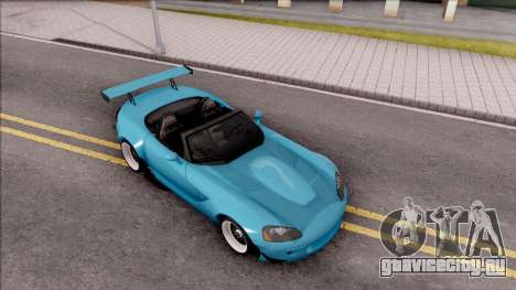 Dodge Viper SRT-10 Widebody 2003 для GTA San Andreas вид справа