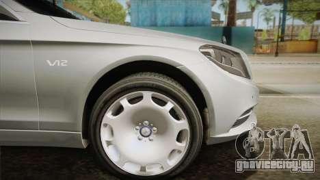 Mercedes-Maybach S600 X222 для GTA San Andreas вид сзади слева
