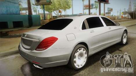 Mercedes-Maybach S600 X222 для GTA San Andreas вид слева