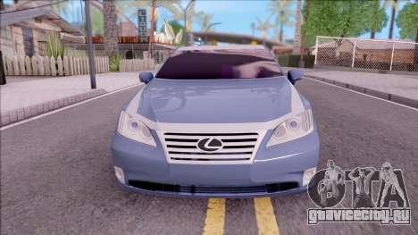 Lexus ES 350 2010 для GTA San Andreas