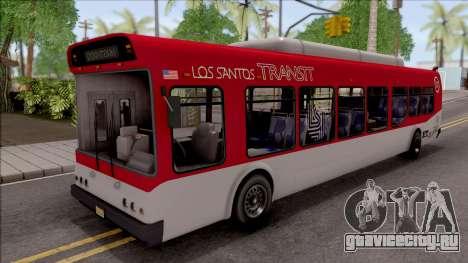 GTA V Brute Bus IVF для GTA San Andreas