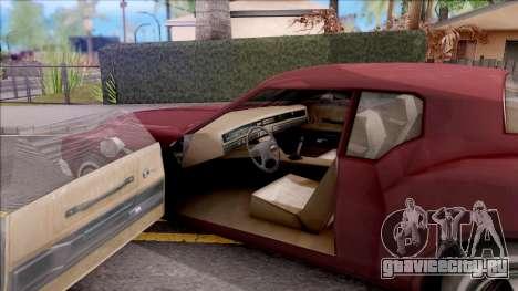 Driver PL Cerva V.2 для GTA San Andreas вид изнутри