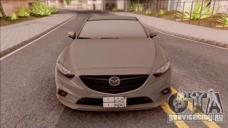 Mazda 6 2016 для GTA San Andreas вид изнутри