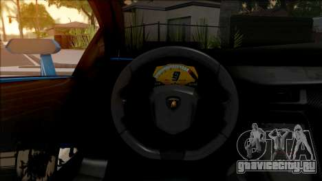 Lamborghini Veneno Roadster v.1 для GTA San Andreas вид изнутри
