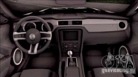 Ford Mustang Shelby GT500 Dubai HS Police для GTA San Andreas вид изнутри