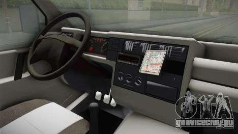 Volkswagen T4 1995 для GTA San Andreas вид изнутри