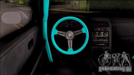 Nissan Skyline R33 Rocket Bunny v2 для GTA San Andreas вид изнутри