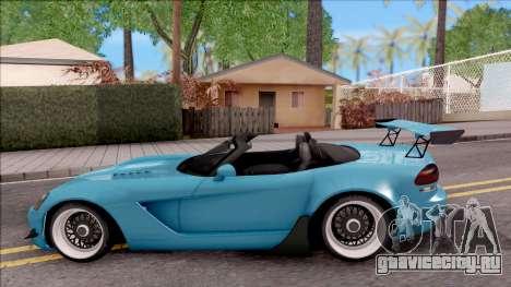 Dodge Viper SRT-10 Widebody 2003 для GTA San Andreas вид слева