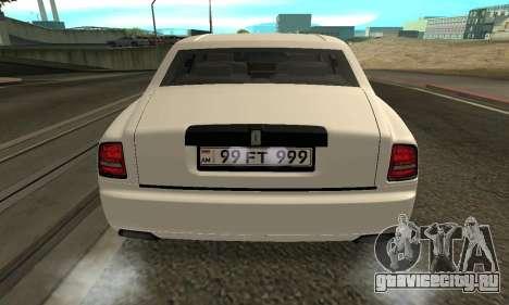 Rolls-Royce Phantom Armenian для GTA San Andreas вид справа