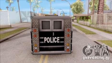 Enforcer from GTA 3 для GTA San Andreas вид сзади слева