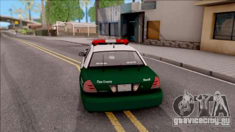 Ford Crown Victoria Flint County Sheriff 2010 для GTA San Andreas вид сзади слева