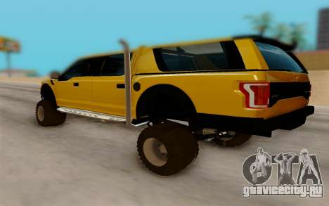 Ford F150 Raptor 4x4 Off-Road для GTA San Andreas вид сзади слева