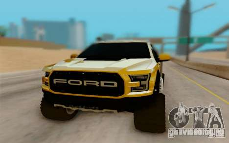 Ford F150 Raptor 4x4 Off-Road для GTA San Andreas вид сзади