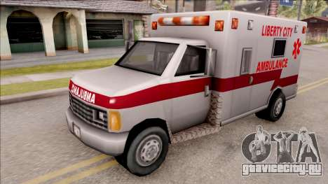 Amblulance From GTA 3 для GTA San Andreas