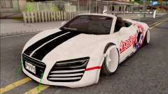 Audi R8 Spyder Angel Beats для GTA San Andreas