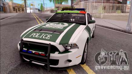 Ford Mustang Shelby GT500 Dubai HS Police для GTA San Andreas