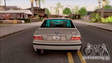 BMW M3 E36 Drift Rocket Bunny для GTA San Andreas вид сзади слева