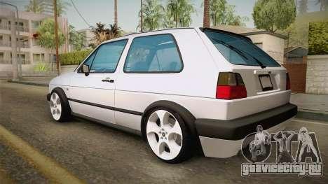 Volkswagen Golf MK2 2.0 TFSI Beta для GTA San Andreas вид слева