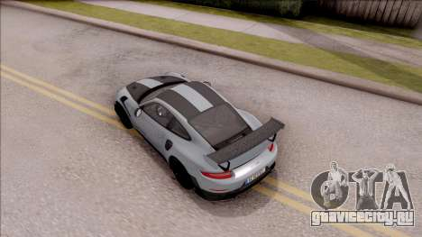 Porsche 911 GT2 RS Weissach Package EU Plate для GTA San Andreas вид сзади