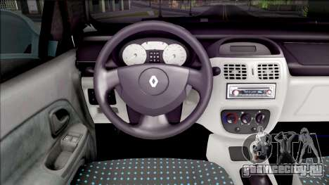 Renault Clio SFD для GTA San Andreas вид изнутри