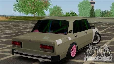 ВАЗ 2105 Customs Боевая Классика для GTA San Andreas вид сзади слева