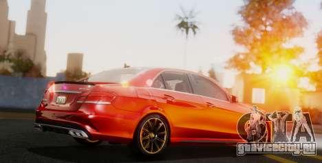 Mercedes-Benz E-class AMG IV для GTA San Andreas вид сзади слева
