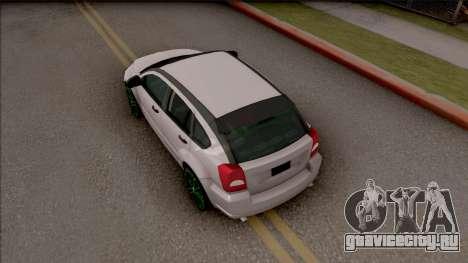 Dodge Caliber для GTA San Andreas вид сзади