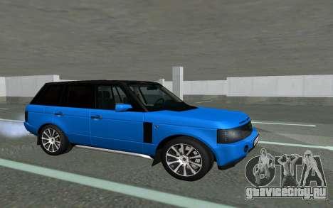 Land Rover Vogue для GTA San Andreas вид слева