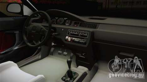 Honda Civic 1.5 LX 1995 для GTA San Andreas вид изнутри