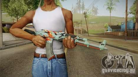 CS: GO AK-47 Aquamarine Revenge Skin для GTA San Andreas третий скриншот