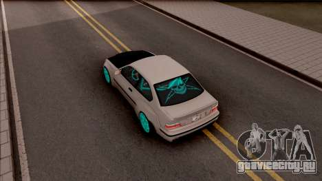 BMW M3 E36 Drift Rocket Bunny для GTA San Andreas вид сзади