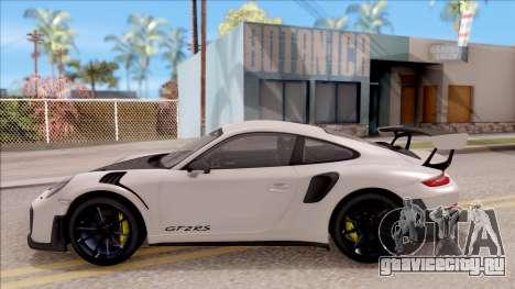 Porsche 911 GT2 RS 2017 EU Plate для GTA San Andreas вид слева