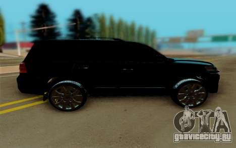 Toyota Land Cruiser 200 для GTA San Andreas вид слева