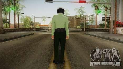 Iranian Cop Biker Skin для GTA San Andreas третий скриншот