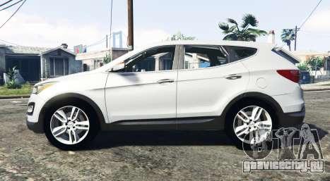 Hyundai Santa Fe (DM) 2013 [replace] для GTA 5 вид слева