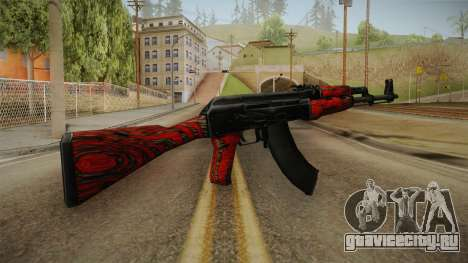 CS: GO AK-47 Red Laminate Skin для GTA San Andreas второй скриншот