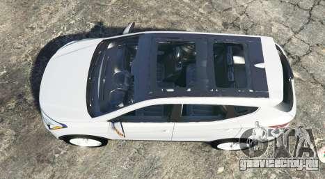 Hyundai Santa Fe (DM) 2013 [replace] для GTA 5 вид сзади