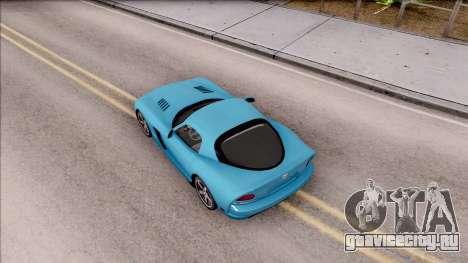 Dodge Viper SRT-10 для GTA San Andreas вид сзади