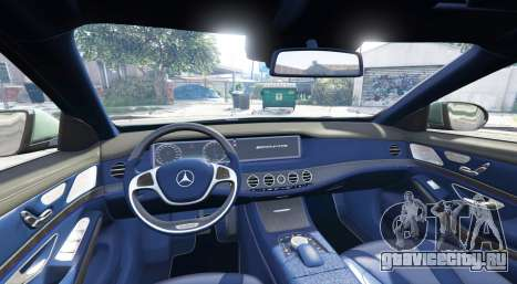 Mercedes-Benz S63 yellow brake caliper [add-on] для GTA 5 вид сзади справа