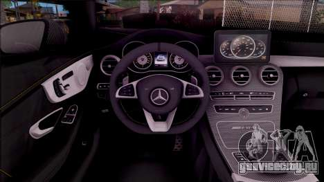 Mercedes-Benz C63S AMG Coupe 2016 для GTA San Andreas вид изнутри