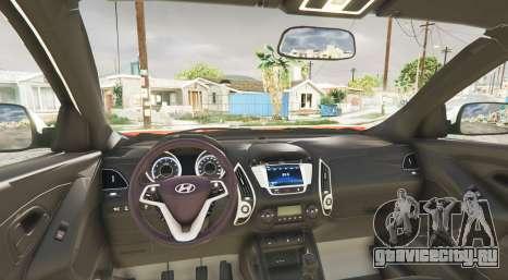 Hyundai Santa Fe (DM) 2013 [replace] для GTA 5 вид сзади справа