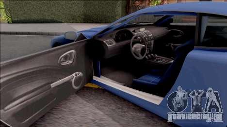 Dewbauchee Super GT LT для GTA San Andreas вид изнутри