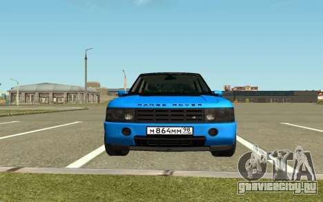 Land Rover Vogue для GTA San Andreas вид сзади слева