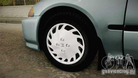 Honda Civic 1.5 LX 1995 для GTA San Andreas вид сзади