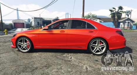 Mercedes-Benz S63 red brake caliper [add-on] для GTA 5 вид слева