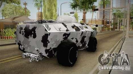APC GTA 5 DLC GunRunning - Normal Turret для GTA San Andreas вид сзади слева